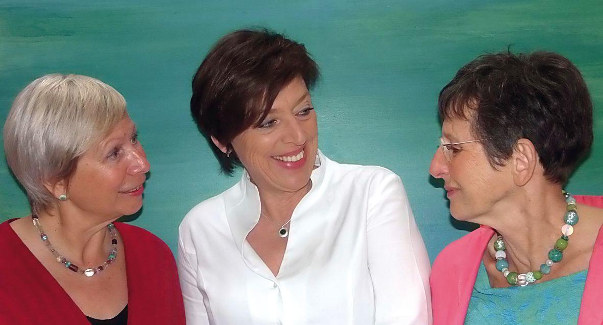 Grit Wuttke, Karin Lohöfener und Barbara Schubert. Foto: Anufaktur